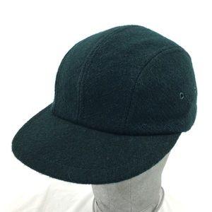 Vintage J Crew Wool Panel Cap Hat Green Made USA